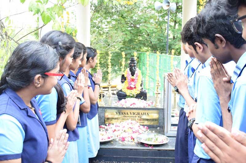 guru purnima - bhavans trivandsrum bvb kodunganoor school