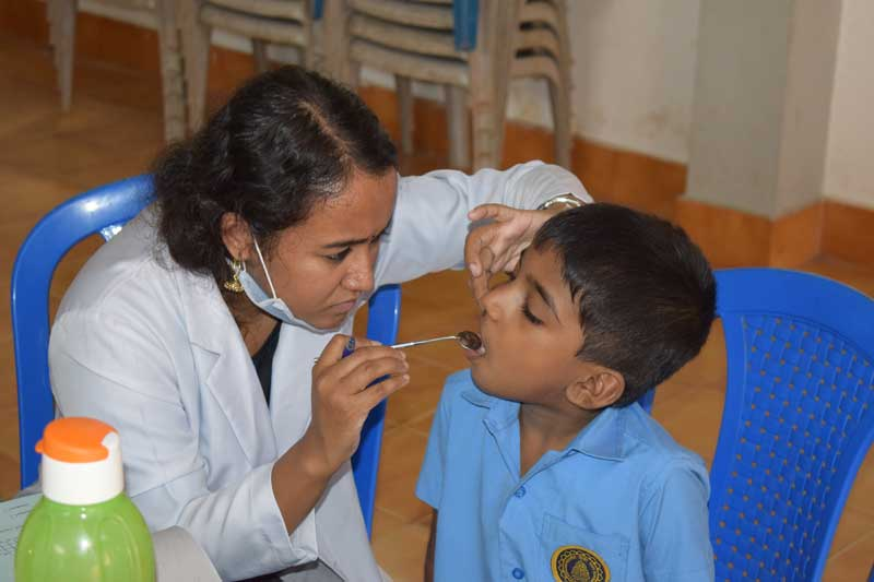 dental-camp - bhavans kodunganoor trivandrum