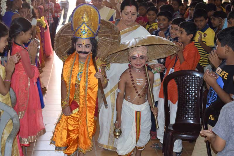 onam celebration - bhavans school trivandrum